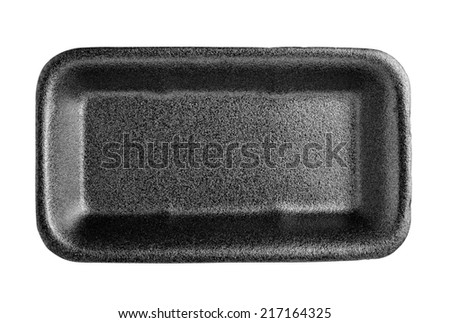 Empty foam food container - stock photo