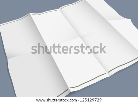 Empty folded paper booklet. Raster version - stock photo