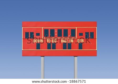 Empty football scoreboard - stock photo