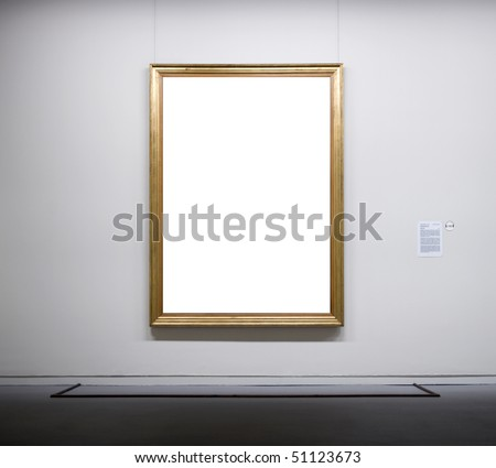 Empty frame in a museum