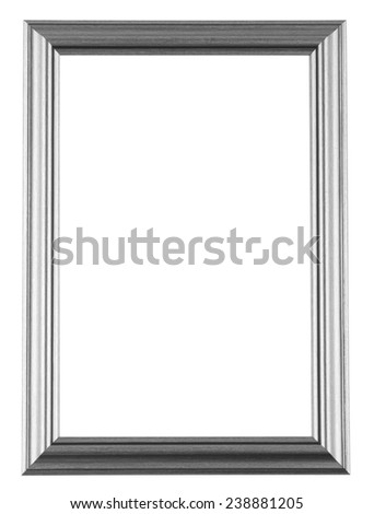 Empty frame isolated on white - stock photo