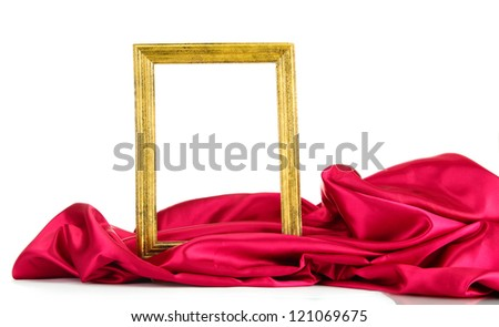 empty frame with silk, isolated on white