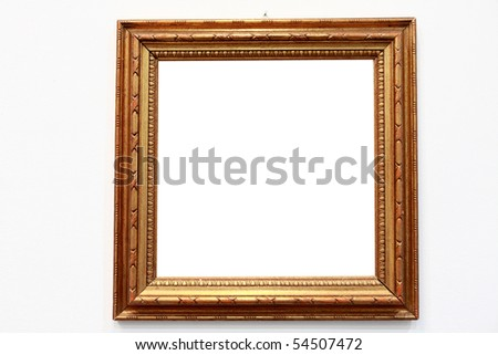 empty frames in a room against a white wall - Empty Frames