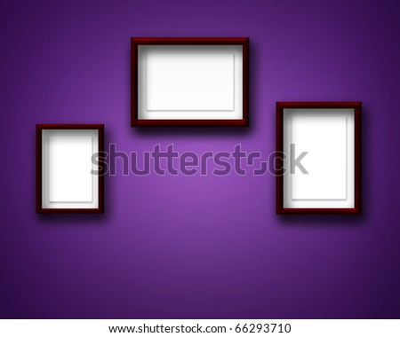 EMPTY FRAMES ON THE WALL