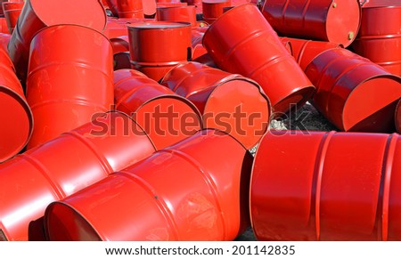 Empty fuel drums - stock photo