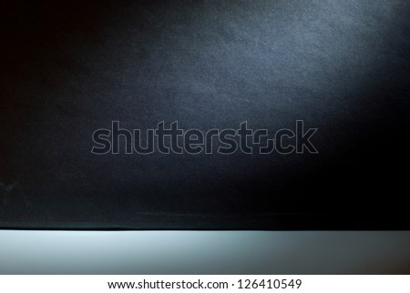 Empty gallery wall with lights for  advertisement. - stock photo