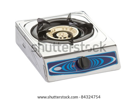Empty gas stove with one gas head best for your studio apartment room - stock photo