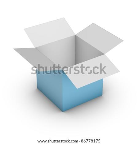 empty gift box - stock photo