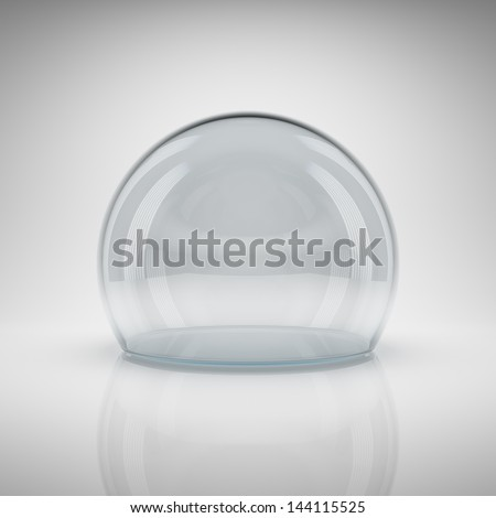 Empty glass ball for exhibition - stock photo