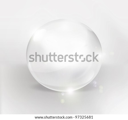 empty glass ball on a light background - stock photo