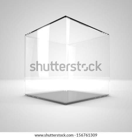 empty glass bell on a light background