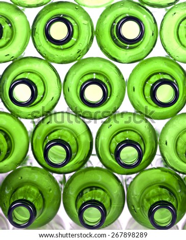 Empty glass bottles  - stock photo