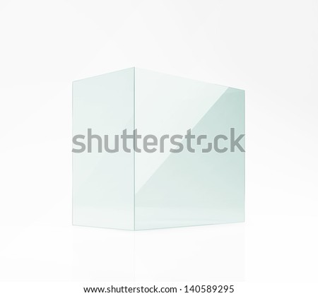 empty glass box - stock photo