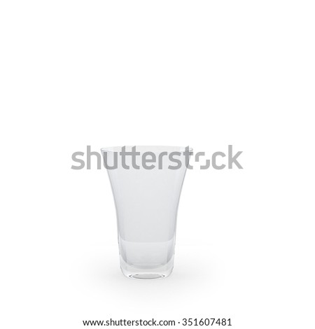 Empty glass for drink isolated
