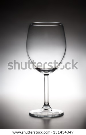 empty glass for red wine. still life.