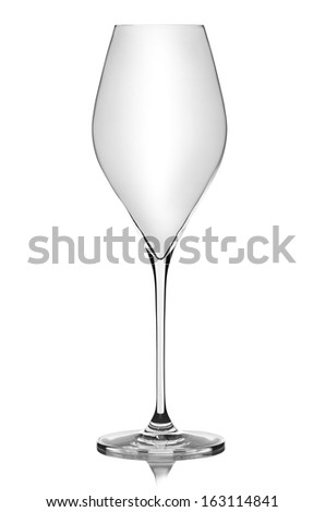 empty glass for wine
