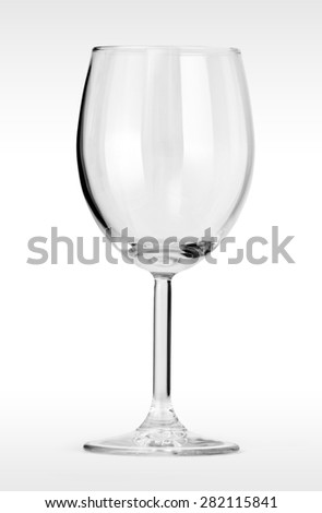 Empty glass for wine isolated on white background with clipping path. - stock photo