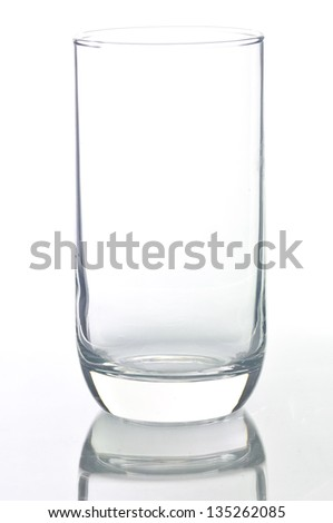 Empty glass isolated on a white background. - stock photo