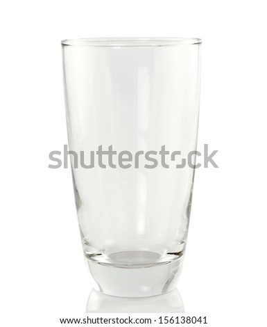 Empty  glass. isolated on a white background