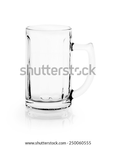 Empty glass. isolated on a white background - stock photo