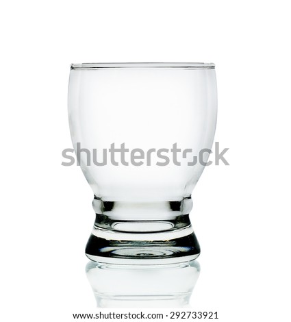 Empty glass isolated on the white background.