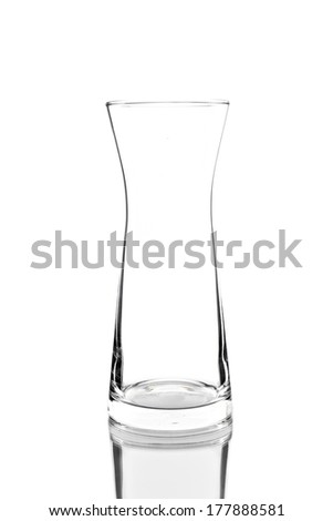 Empty glass isolated on white.