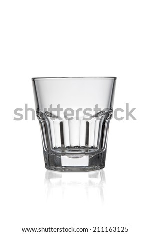 Empty glass, isolated on white background - stock photo