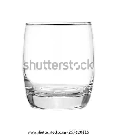 Empty glass isolated on white background. - stock photo