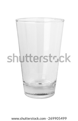 Empty glass isolated on white background - stock photo