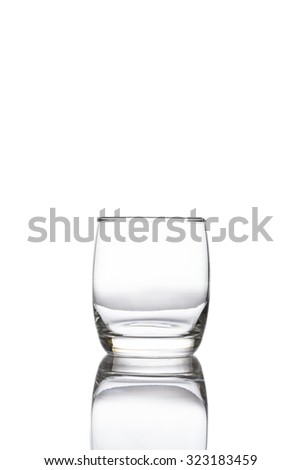 Empty glass isolated on white background, clipping path included - stock photo
