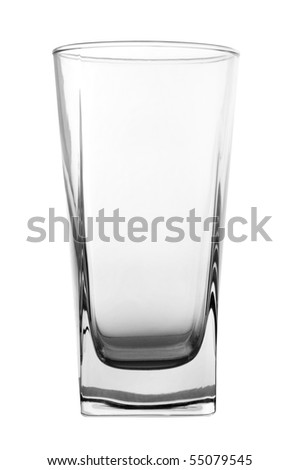 empty glass isolated on white background with clipping path - stock photo
