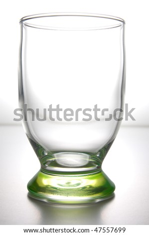 Empty glass on backlight