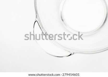 empty glass plate on white background