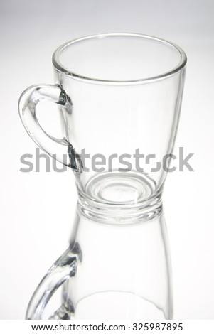 empty glass with reflection