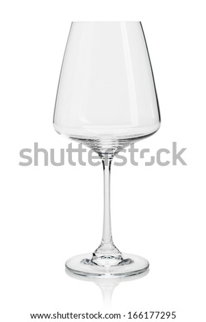 empty goblet glass on white background isolated - stock photo