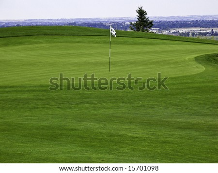 Empty golf course
