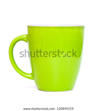 empty green cup