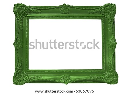Empty Green Frame - stock photo
