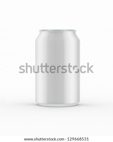 Empty grey tin. Aluminum cans isolated on white.