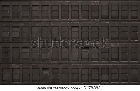 Empty grunge flip board - stock photo