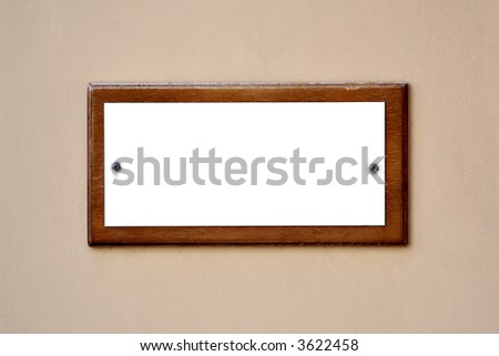 empty guide board - stock photo