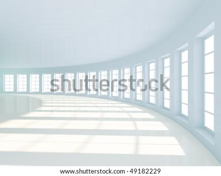Empty Hall - stock photo