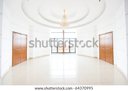 empty hall of modern building. - stock photo