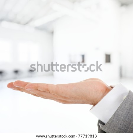 Empty hand - stock photo