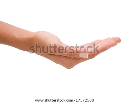 empty hand on a isolated background - stock photo