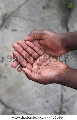 Empty hands - stock photo