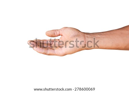 empty hands isolated on white background, - stock photo