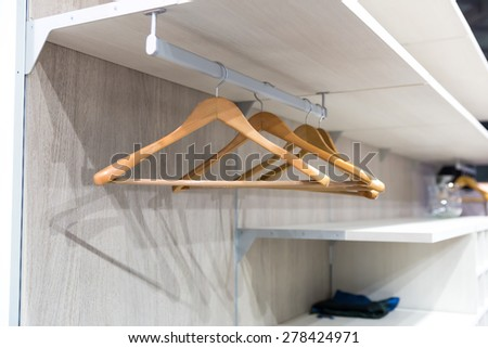 Empty hangers for clothes - stock photo