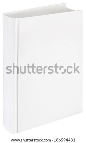 Empty Hard Book Cover Template Isolated with Clipping Path - stock photo