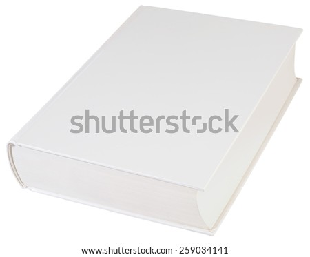 Empty Hardbook Cover Isolated with Clipping path - stock photo